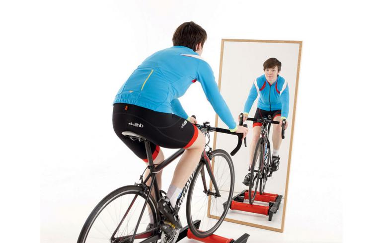 Cycling-rollers-mirror