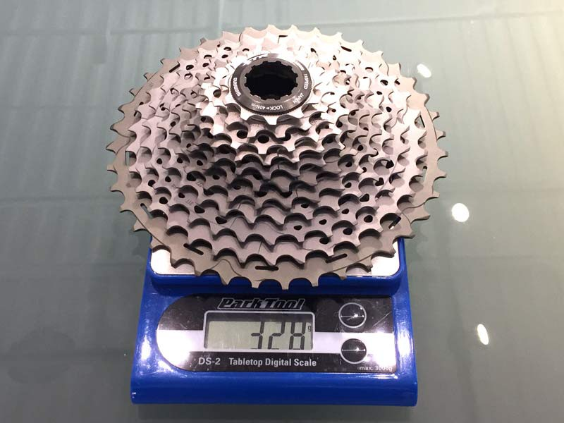 Shimano-XTR-M9000-mechanical-actual-weights-cassette01