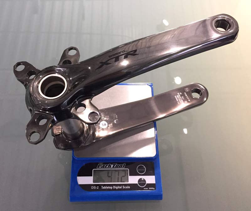 Shimano-XTR-M9000-mechanical-actual-weights-cranksets02