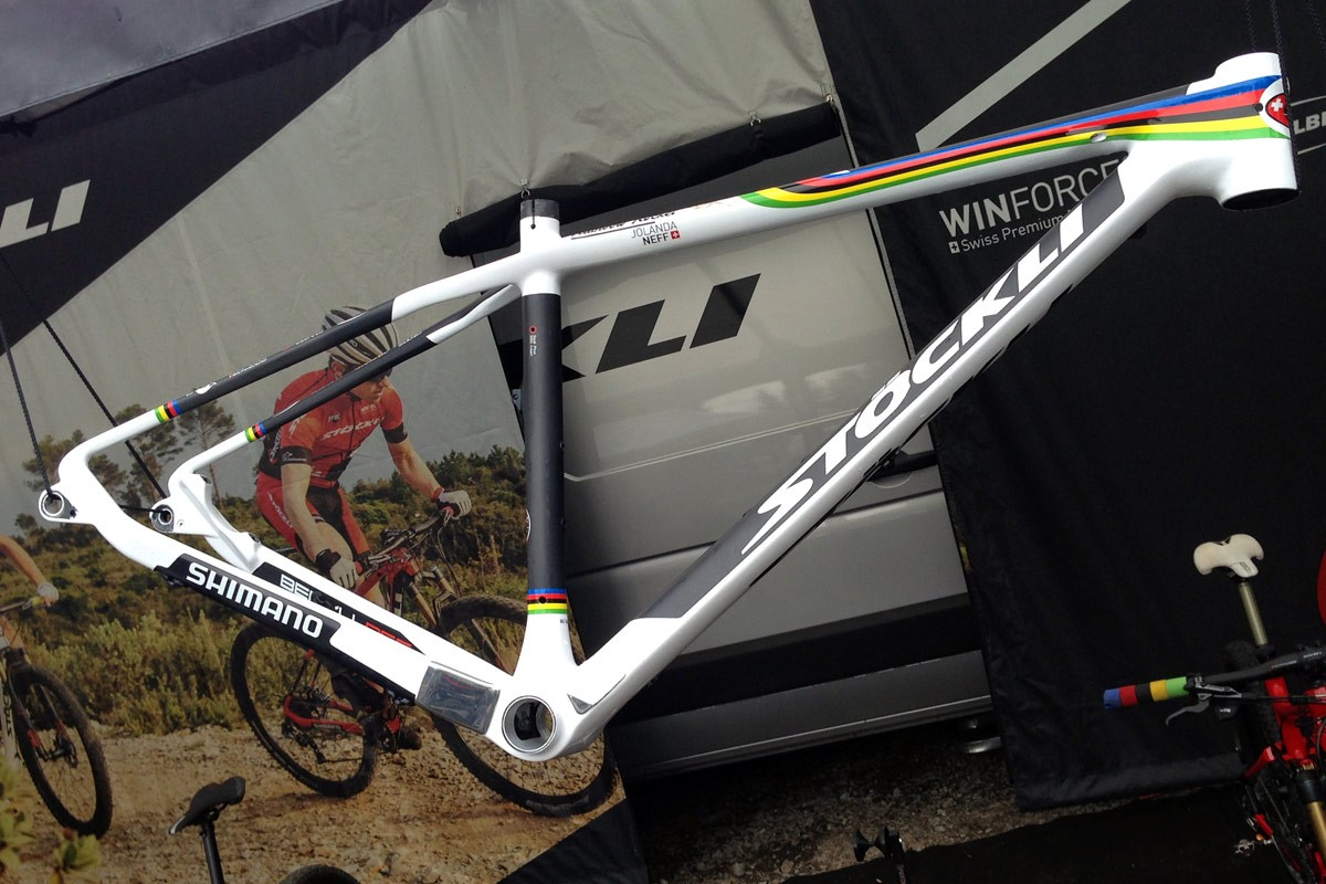 XC_mountain-bike_World-Cup_Nove-Mesto_Jolanda-Neff_custom_Stoeckli_Beryll-RSC_U23-world-champion-rainbow-frame